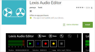 lexis audio editor for android