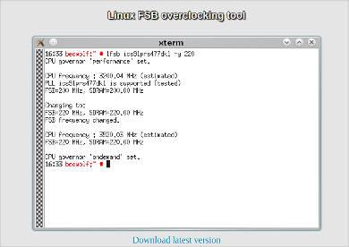 linux fsb overclocking tool