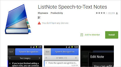 listnote speech to text notes for android1