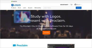 logos church presentation software