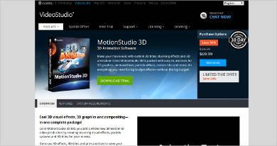 motionstudio 3d most popular software