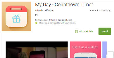 my day countdown timer for android