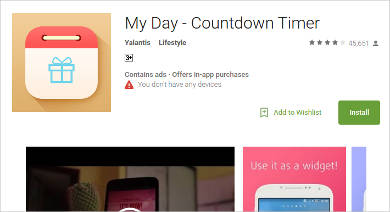my day free countdown timer for android