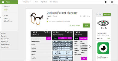 opticals patient manager for android