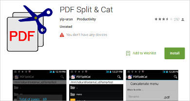 pdf split cat for android
