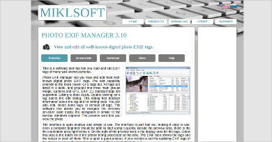 photo exif manager