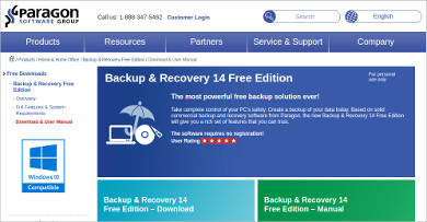 paragon backup recovery