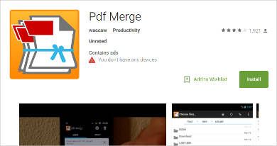 pdf merge for android