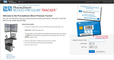pharmasmart blood pressure tracker