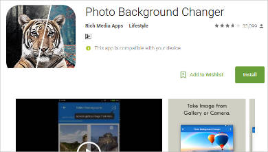 photo background changer for android