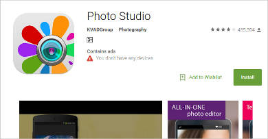 photo studio for android