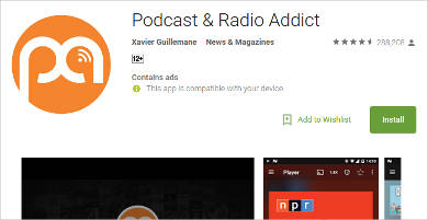 podcast radio addict for android