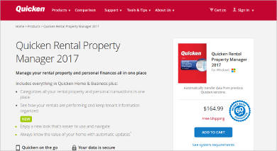 quicken rental property manager for windows