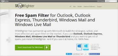 spamfighter most popular software