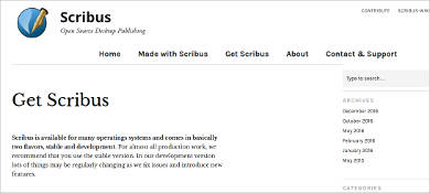scribus for windows