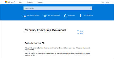 security essentials download most popular software