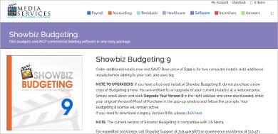 showbiz budgeting 9