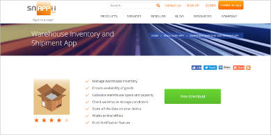 snapii warehouse inventory and shipment app