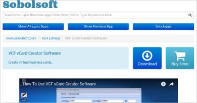 solbosoft vcf vcard creator most popular software