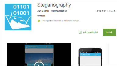 steganography for android