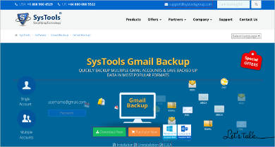 systools gmail backup most popular software