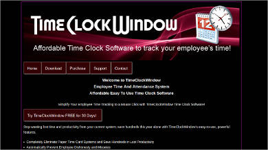 time clock window