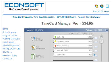 timecard manager pro