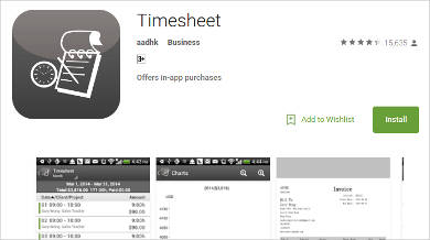 timesheet for android