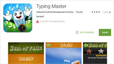 typing master for android