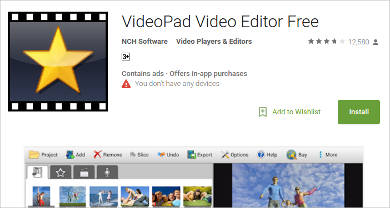 videopad video editor free for android