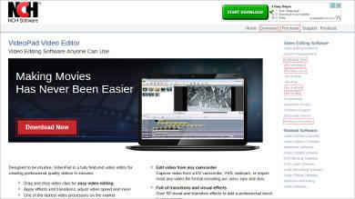 videopad video editor most popular software1