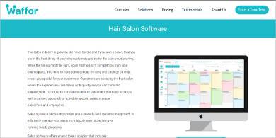 waffor hair salon software