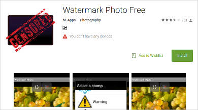 watermark photo free for android