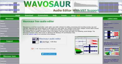 wavosaur free audio editor