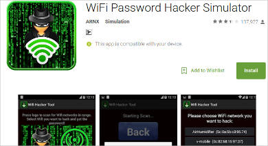 wifi password hacker simulator for android