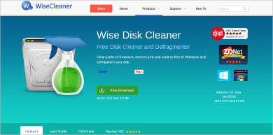 wise disk cleaner for windows