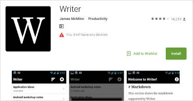 writer for android