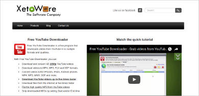 Xetoware Free YouTube Downloader