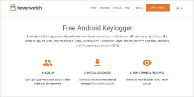 hoverwatch free android keylogger