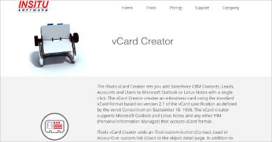 itools vcard creator