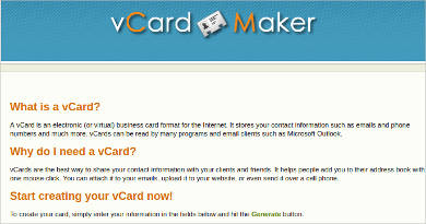 vcard maker