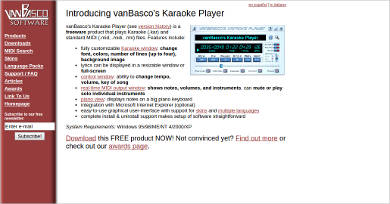 vanbascos karaoke player
