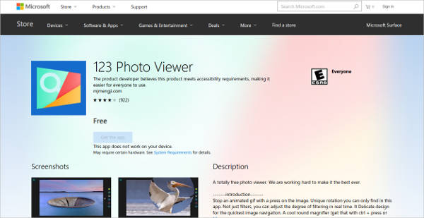123 photo viewer for windows
