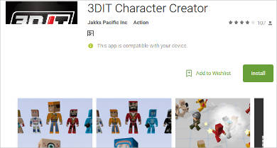 3dit character creator for android