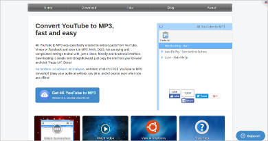 4k youtube to mp3 for linux