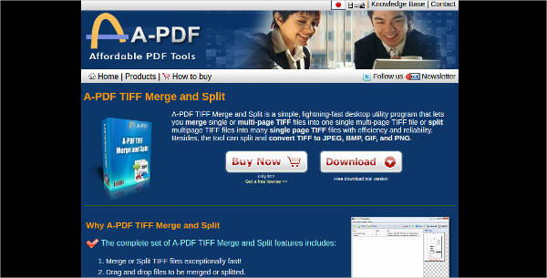 a pdf tiff merge and split for windows