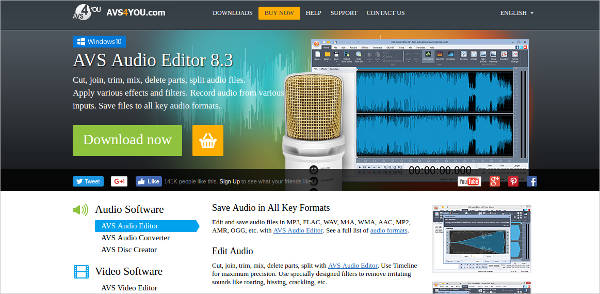 avs audio editor most popular software
