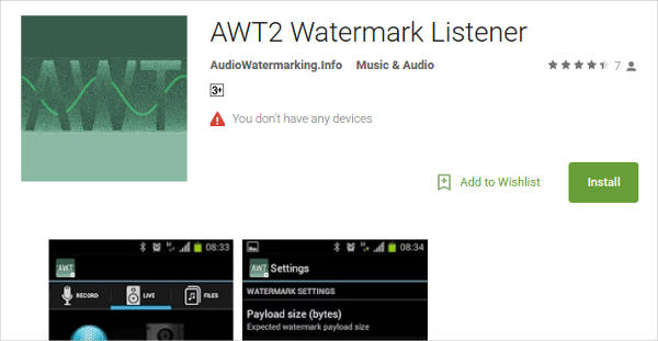 awt2 watermark listener for android