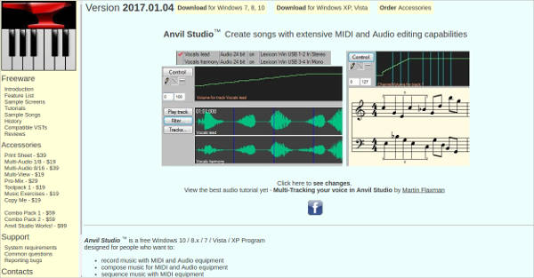 anvil studio most popular software