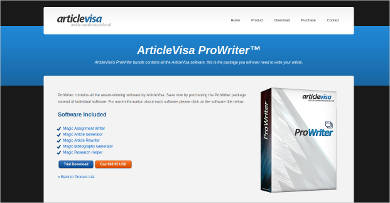 articlevisa prowriter for windows